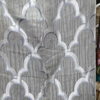 Wholesale 100% polyester material and jacquard pattern bedroom window curtains