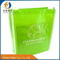 foldable recycled laminated pp non woven shopping bag with should strap