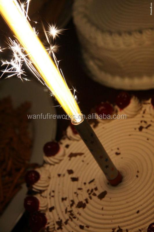 Cake Candles Sparklers Ice