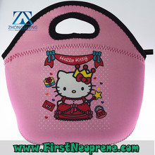 High Quality Sublimation Print 3mm Thick Custom Neoprene Lunch Bag