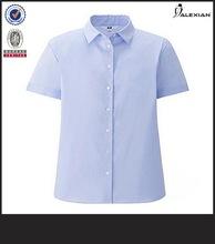 blusas de oficina para el uniforme de manga corta