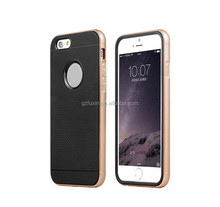 Aluminum bumper and silicone back cover case for iPhone 6 mobile phone