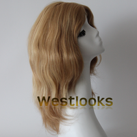 Multidirectional Skin Top Virgin Remy European Human Hair Sheitels Jewish Wigs