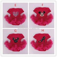 Baby clothes European and American baby grils christmas grenadine dress baby romper