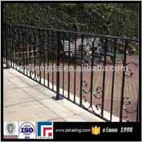outdoor wrought iron banister