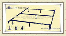 Metal Bed Frame 7 Legs, Locking Wheels Adjustable Size (Twin-Queen) Heavy Duty,made in china