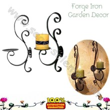 Traditional Wrought Iron Wall candle holder