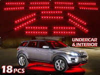 NEW 18pcs RED Undercar+Interior LED Neon Glow Accent Light 3 Mode Auto Recall