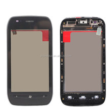 Replacement Front Touch Screen Digitizer Glass + Frame For Nokia Lumia 710 N710