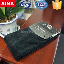 high quality popular cut velvet solid colour golf towel