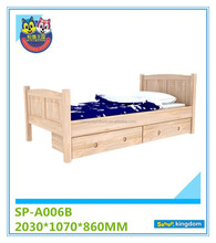 solid wood toddler bed with under storage drawers#SP-A006B