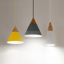 modern delicate bar restaurant aluminum lamp shades wire pendant lamp