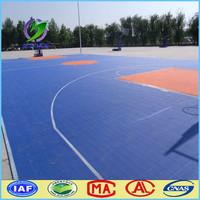 Suspended indoor and outdoor basketball court floor
