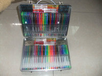 60 Pack beautiful various colors glitter Gel Ink Pen Set with metal pencil box