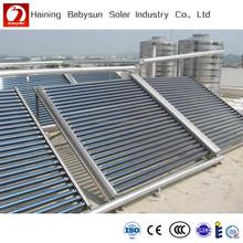 Sun energy 50 tubes vacuum tube solar collector, split non pressure solar manifold