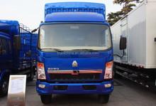 China brand Sinotruk Howo 4X2 light duty mini van cargo truck