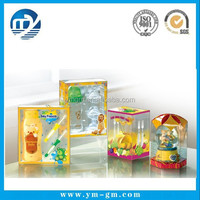 Recycle PVC clear plastic box for baby products , feeding bottle box