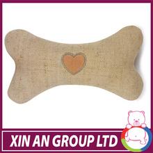 plush charming brown dog bone with heart