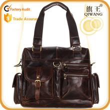 Fashion popular vintage man leather handbag