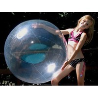 "Plastic 48"" Crystal Clear Inflatable Beach Ball"