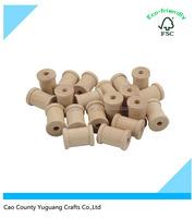 Custom Unfinished Natural Wood Spools