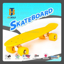plastic and wood pv pu rubber wheel skates maple penny board skate board long board sports toy