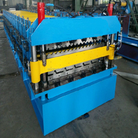 2015 Galvanized Metal Double Layer Roofing Sheet Roll Forming Machine/Double Layer Roof Tile Roller Former Machinery