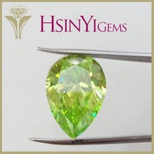 Light green drop shape CZ stone