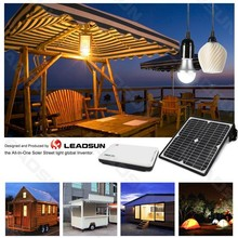 PBOX solar panel kits for home grid system with led light