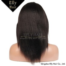 Factory Price Hot Sell Indian Women Hair Wig ,100% Human Hair Glueless Full Lace Wigs With Baby Hair