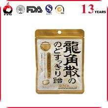 Fancy printing plastic foil ziplock tea coffee sugar bags