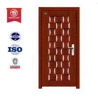 latest design steel security door / door metal / flat design steel wooden armored door
