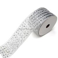 2015 Hot Sale Silver Diamond Mesh Stretch Ribbon Wholesale