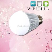 Android iOS Phone control 6w 9w led e27 baby night light, led phone bulbs