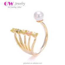 18 Karat Gold Rings Turkish Sizes Latest Pearl Ring Design