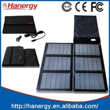 Hanergy 48w solar mobile charger with sunpower folding solar panel