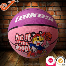 Mini basketball high quality PU kids playing rubber basketball