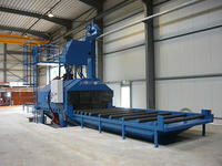 roller conveyor type shot blasting machine/h beam shot blasting machine/used shot blasting machine