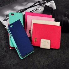 Wallet PU mobile phone case wallet card case for iphone 6