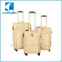 Cathylin 2015 aluminum trolley travel fabric nylon soft suitcase