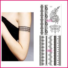 New Fashionable 2015 sexy tattoo flash body jewelry temporary black circle stickers for arm