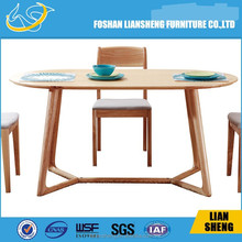 Solid slab wood rustic dining table