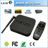 New arrival MINIX NEO Z64A Android TV receiver Box Quad Core CPU 2G/32G Player 1080P Smart TV satelite Receiver
