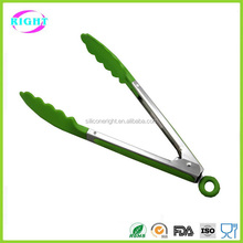 Silicone stainless steel food tongs serving tongs
