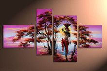 wall art abstract african women oil painting
