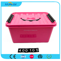 Red Home USe Plastic Storage Box with Handle 400105