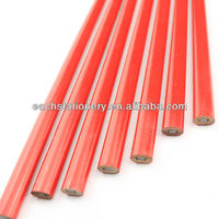 best selling 10 inch red printing drawing wooden carpenter oval pencil logo available