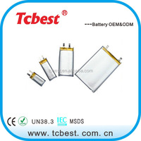 Shenzhen supplier with 3.7v ultra thin battery for wearable device