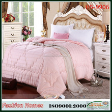 Nice design quilt/Hot selling microfiber bedding set/comforter with cotton cover