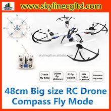 2015 compass mode big size RC drone quadcopter with HD camera